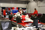 Helio Castroneves' car is weighed