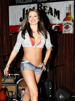 One of the lovely contestants from the Daisy Duke contest sponsored by Jim Beam at The Palms in Las Vegas