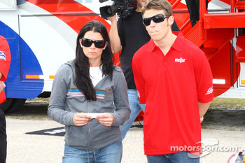 Danica Patrick and Marco Andretti