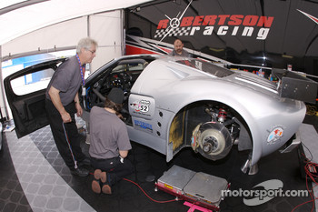 Robertson Racing team members at work