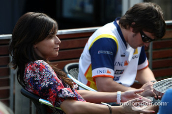 Raquel Rosario Wife of Fernando Alonso, Fernando Alonso, Renault F1 Team