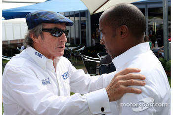 Jackie Stewart and Anthony Hamilton, Father of Lewis Hamilton