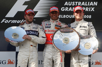 Nick Heidfeld, BMW Sauber F1 Team, Lewis Hamilton, McLaren Mercedes, Nico Rosberg, WilliamsF1 Team