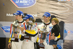 GT1 podium: second place Olivier Beretta, Oliver Gavin and Max Papis