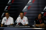 FIA press conference: Dr. Mario Theissen, BMW Sauber F1 Team, BMW Motorsport Director, Martin Whitmarsh, McLaren, Chief Executive Officer and Gerhard Berger, Scuderia Toro Rosso, 50% Team Co Owner