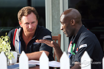 Team principal Christian Horner and personal trainer Roger Cleary