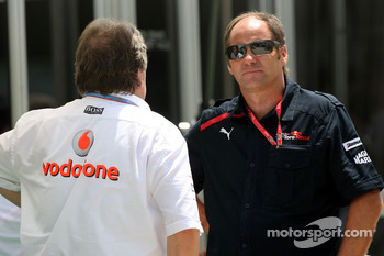 Norbert Haug, Mercedes, Motorsport chief and Gerhard Berger, Scuderia Toro Rosso, 50% Team Co Owner