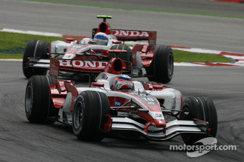 Takuma Sato, Super Aguri F1, SA08 and Anthony Davidson, Super Aguri F1 Team, SA08