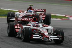 Takuma Sato, Super Aguri F1, SA08 and Anthony Davidson, Super Aguri F1 Team, SA08