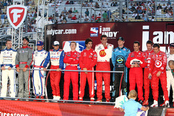 IndyCar drivers on stage