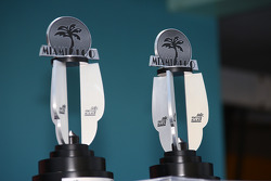 The Miami 100 race winner trophies