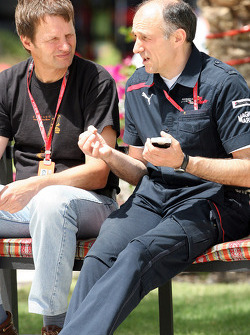 Team principal Franz Tost giving an interview to a journalist