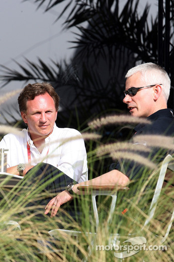 Team principal Christian Horner and technical director Geoffrey  Willis