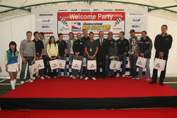 Honda Welcome Party: IndyCar series drivers receive gifts from the town of Motegi