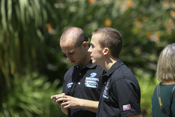 Team mates Carl Skerlong and Frankie Muniz