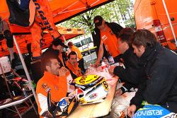 KTM Repsol Team bivouac at Baia Mare
