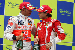 Podium: Lewis Hamilton and Felipe Massa