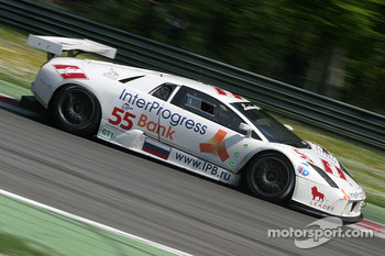 #55 IPB Spartak Racing Lamborghini Murcielago R-GT: Peter Kox, Roman Rusinov