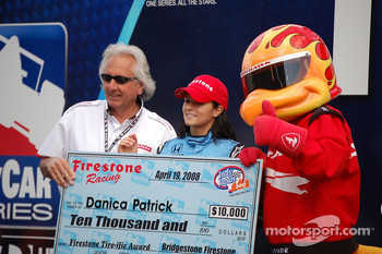 Check presentation to Danica Patrick