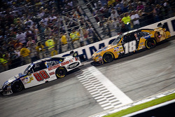 Dale Earnhardt Jr. and Kyle Busch on a restart