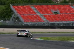 Jamie Green, Team HWA AMG Mercedes, AMG Mercedes C-Klasse in front of empty grand stands