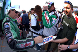 John Force signing autographs on race morning