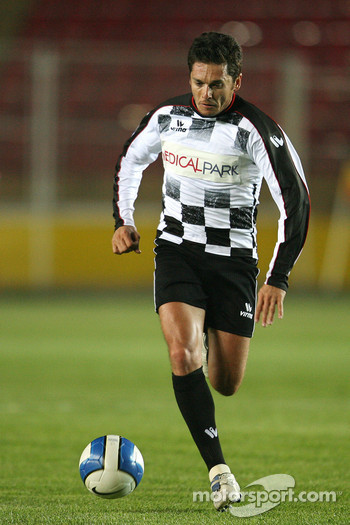 Football match Nazionale Piloti vs All Stars Team in Stadium of Galatasaray, Istanbul: Giancarlo Fisichella, Force India F1 Team