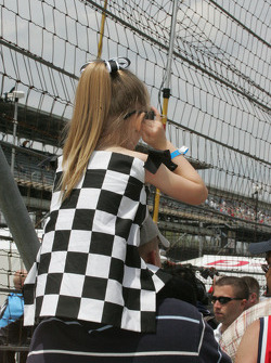 A young race fans thinks the cars are too loud