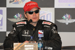 Buddy Lazier during the evening press conference