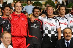 Michael Schumacher, Test Driver, Scuderia Ferrari and Prince Albert II of Monaco and Antonio Pizzonia