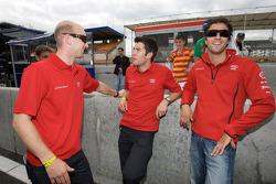 Alexandre Prémat, Mike Rockenfeller and Lucas Luhr