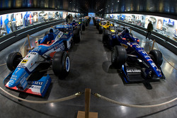Formula One area: Benetton and Prost cars