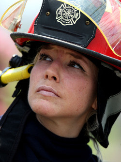 A woman from the Fire Department