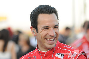 Helio Castroneves was in good spirits