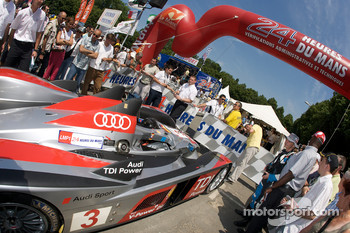 #3 Audi Sport Team Joest Audi R10 enters scrutineering