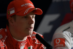 Press conference: pole winner Kimi Raikkonen, Scuderia Ferrari
