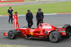 Felipe Massa, Scuderia Ferrari, stopped on track