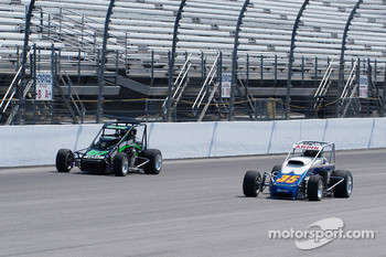 Jacob Wilson and Steve Arpin race down the back stretch