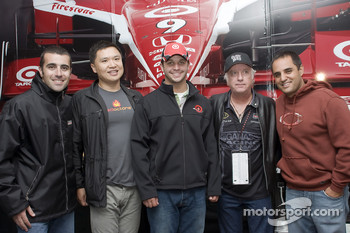 Dario Franchitti, Reed Sorenson and Juan Pablo Montoya at the Guitar Hero VIP Party