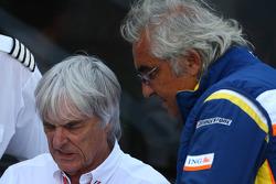 Bernie Ecclestone, President and CEO of Formula One Management and Flavio Briatore, Renault F1 Team, Team Chief, Managing Director