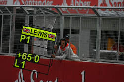 Lewis Hamilton, McLaren Mercedes had a strong lead