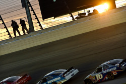 The sun sets during the Dollar General 300