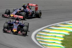 Max Verstappen, Scuderia Toro Rosso en Carlos Sainz Jr., Scuderia Toro Rosso