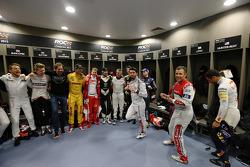 Jenson Button, Nico Hulkenberg, ROC founder Fredrik Johnsson, Ryan Hunter-Reay, Sebastian Vettel, Petter Solberg, Mick Doohan, Romain Grosjean, Jose Maria Lopez, Tom Kristensen, Daniel Ricciardo