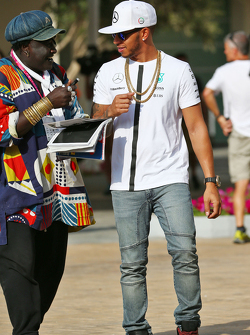 Lewis Hamilton, Mercedes AMG F1 with Mr Moko, Crown Hearts Jewelry