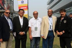 V. K. Misra, JK Tyres Technical Director, Raghupathi Singhania, Chairman & Managing Director of JK Tyres and Sanjay Sharma, Head of JK Motorsport
