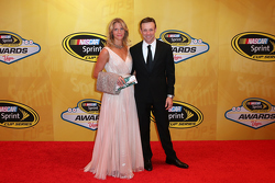 Matt Kenseth, Joe Gibbs Racing Toyota with wife Katie