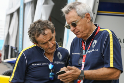 Alain Prost and Jean-Paul Driot, Renault e.Dams team owners