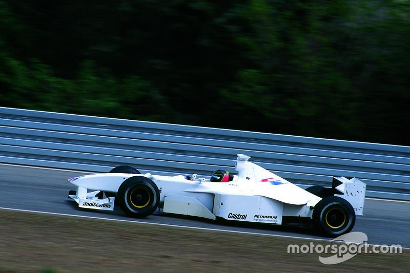 Formel-1-Test von BMW mit Jörg Müller am Steuer eines Williams-Chassis von 1998
