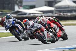 Michael van der Mark, Honda WSBK Team, Davide Giugliano, Aruba.it - Ducati Team and Alex Lowes, Pata Honda
